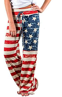 Elsofer 4th of July Pants for Women July 4th Womens Clothing
