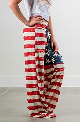 Elsofer 4th Pants for July 4th Womens Clothing USA American
