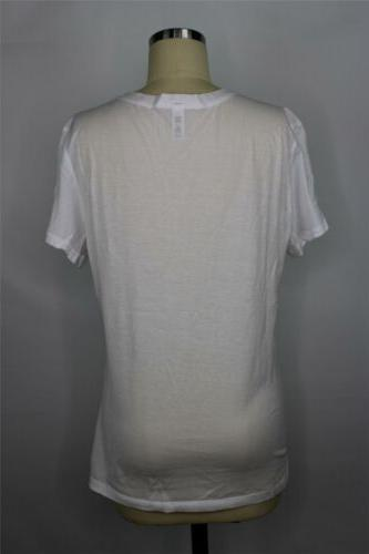 American 50/1 Cotton V-Neck T-Shirt L in $22