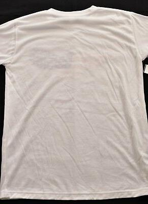 womens 213 Apparel size medium white with print short sleeve crewneck