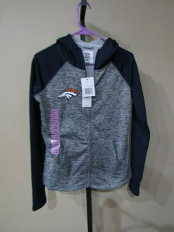NWT Team Apparel Womens Zip Hoodie Jacket-Denver Broncos-Mul