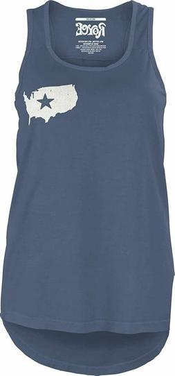 Royce Apparel Olympics Women's Land of The Free Tank Top Med