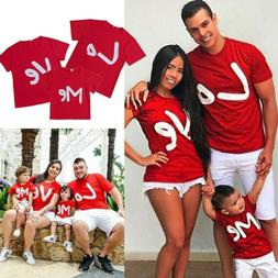Summer Family Matching Tops Women Men Baby Kids T shirt Blou