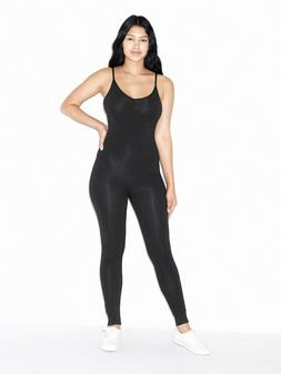 American Apparel Women's Black Cotton Spandex Unitard Size: