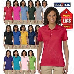 Jerzees Women Polo Shirt Short Sleeve SpotShield Solid M-437