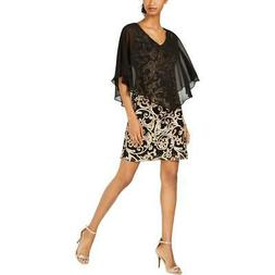 Connected Apparel Womens Lace Mini Party Capelet Dress BHFO