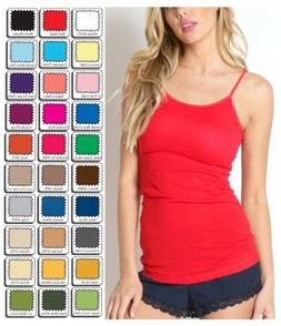 Womens Tank Top Long Cami Spaghetti Strap S-M-L-XL ZENANA DI